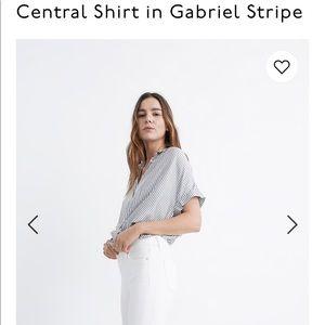 Madewell central shirt in Gabrielle stripe.Likenew